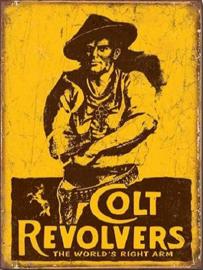 Colt Revolvers Metalen wandbord 31,5 x 40,5 cm.