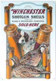 Winchester Shotgun Shells Metalen wandbord 31,5 x 40,5 cm.