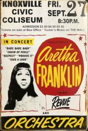 Aretha Franklin Think Revue & Orchestra.  Metalen wandbord  20 x 30 cm.