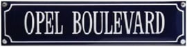 Opel Boulevard Emaille  bordje.