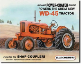 Allis- Chalmers Model WD-45  Metalen wandbord 31,5 x 40,5 cm.