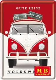 VW T1 Bulli Metalen Postcard 10x14 cm
