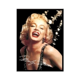 Marilyn Monroe. Koelkastmagneet 8 cm x 6 cm.