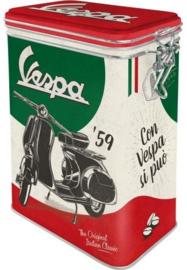 Vespa '59 Bewaarblik met clipsluiting.