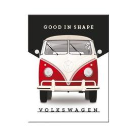 VW Good In Shape. Koelkastmagneet 8 cm x 6 cm.