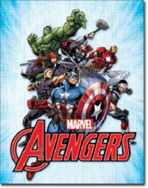 Marvel Avengers Metalen wandbord 31,5 x 40,5 cm.
