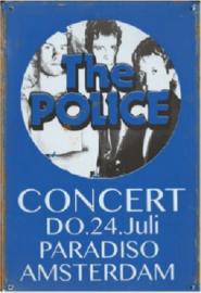 The Police Paradiso Amsterdam.  Metalen wandbord  20 x 30 cm.