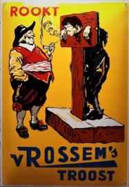 Rookt v Rossem's. Emaille Reclamebord 35 x 50 cm.