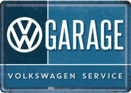 VW Garage Metalen Postcard 10 x 14 cm