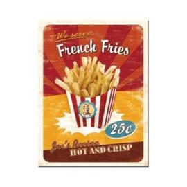 French Fries. Koelkastmagneet 8 cm x 6 cm.