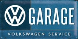 VW garage Volkswagen Service  Metalen wandbord in reliëf 25 x 50 cm.