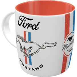 Ford Mustang . Horse & Stripes Logo. Koffiebeker.
