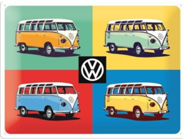 VW Four Bullis Limited Edition.  Metalen wandbord in reliëf 30 x 40 cm.