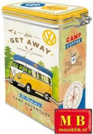 VW T1 Bulli Lets Get Away  Bewaarblik met beugelsluiting