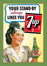 7up Your Stand By. Metalen wandbord 30 x 42 cm.