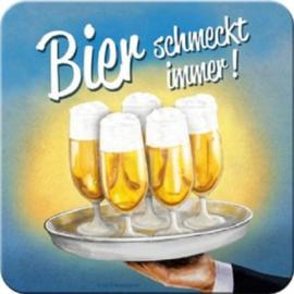 Bier Schmeckt immer! Onderzetters 9 x 9 cm.    5 stuks.
