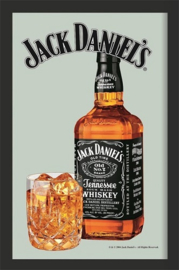 Jack Daniel's Bottle & Glass.  Spiegel 22 x 32 cm.