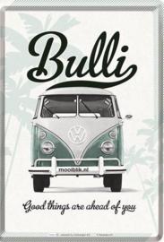 VW Bulli Metalen Postcard 10 x 14 cm