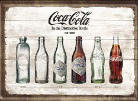 Coca Cola Timeline Metalen Postcard 10 x,14 cm