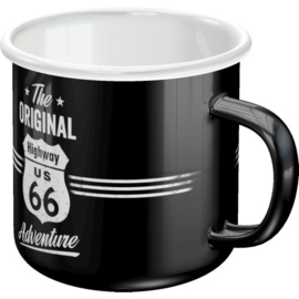 Highway 66. Emaille Drinkbeker.