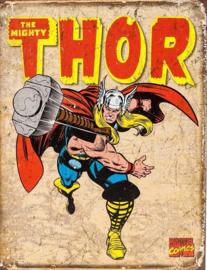The Mighty THOR.  Metalen wandbord 31,5 x 40,5 cm.