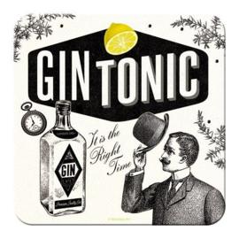 Gin Tonic Onderzetters 9 x 9 cm.  5 stuks.