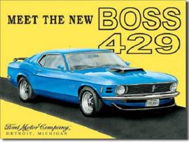 Mustang The Boss 429 Metalen wandbord 31,5 x 40,5 cm.