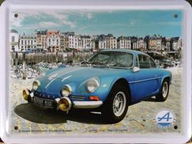 Renault Alpine A110 Metalen Wandbord 20 x 30 cm.