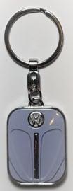 Volkswagen Kever  Sleutelhanger Grijs.