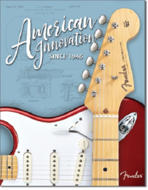 Fender  Innovation Since 1948.     Metalen wandbord 31,5 x 40,5 cm.