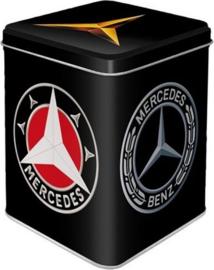 Mercedes Logo.  Theeblik 7.5 x 7,5 x 9.5 cm.