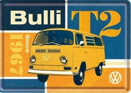 Bulli T2 1967 Metalen Postcard 10  x 14 cm.