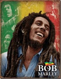 Bob Marley  Metalen wandbord 31,5 x 40,5 cm.