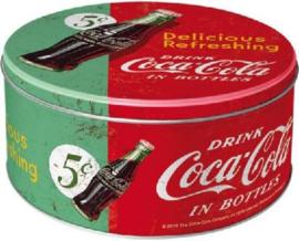 Drink Coca Cola  in Bottles Bewaarblik Rond 21 cm.