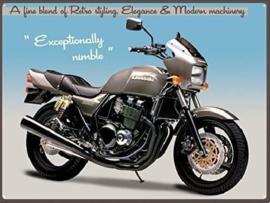 Kawasaki ZRX. Metalen wandbord 30 x 41 cm.