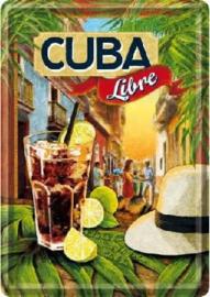 Cuba Libre Metalen Postcard 10 x 14 cm.