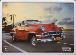 Chevrolet 210 1953 Metalen wandbord 15 x 21 cm.