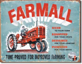 Farmall Model A Metalen wandbord 31,5 x 40,5 cm.