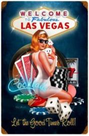 Welcome To Fabulous Las Vegas. Metalen wandbord 44,5 x 29,5 cm.