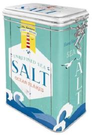 Salt Bewaarblik met clipsluiting.