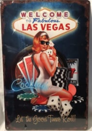 Welcome To Fabulous Las Vegas. Metalen wandbord 44,5 x 29,5 cm.