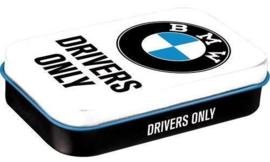Pepermunt doosje BMW Drivers Only.