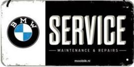 BMW Service Metalen wandbord 10x20 cm