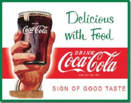 Coca Cola Delicious with Food