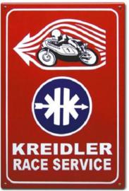 Kreidler Race Service Emaillebord 40 x 60 cm.