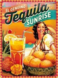 Tequila Sunrise  Metalen wandbordin reliëf15x20 cm