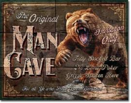 The Original Man Cave Metalen wandbord 31,5 x 40,5 cm.