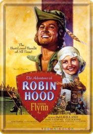 Robin Hood..   Metalen Postcard 10 x 14 cm.