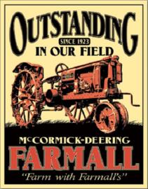 Farmall - Outstanding Metalen wandbord 31,5 x 40,5 cm.