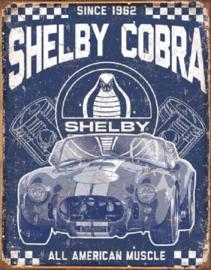 Shelby Cobra American Muscle.  Metalen wandbord 31,5 x 40,5 cm.